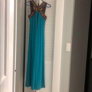 New York and Company Blue Maxi Dress